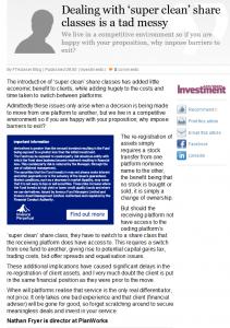 FT Adviser Article